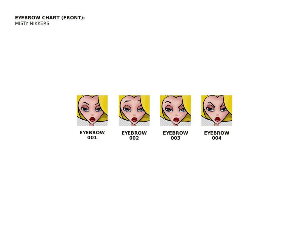 Misty Eyebrow Chart