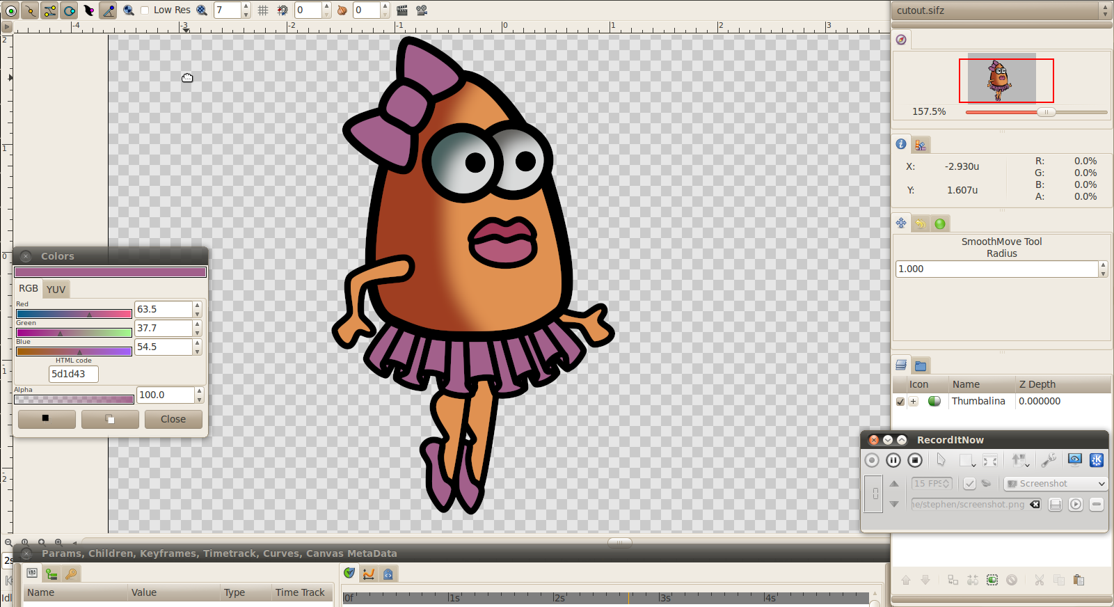 Synfig How To: Making a Cut-Out Character