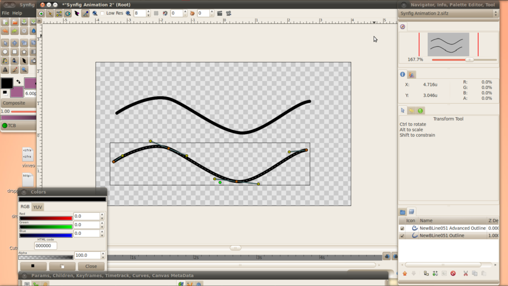 Make two different types of outline with one line