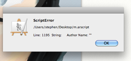 iPad + ArtRage Scripting Woes