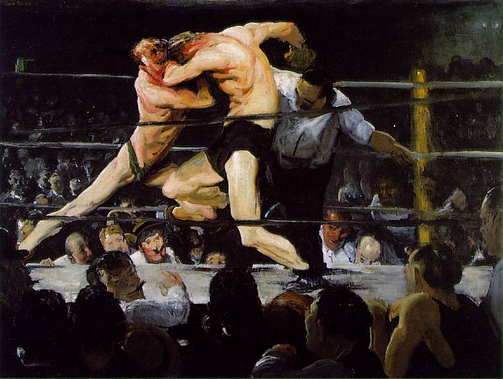 Stag-at-Sharkeys by George Bellows