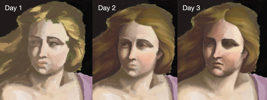 Three-day comparison