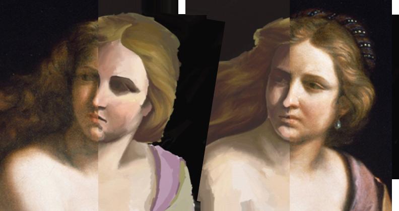Day three tilt comparison split image