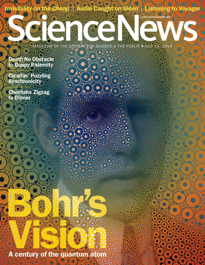 Final design of Bohr portrait (click for larger image)