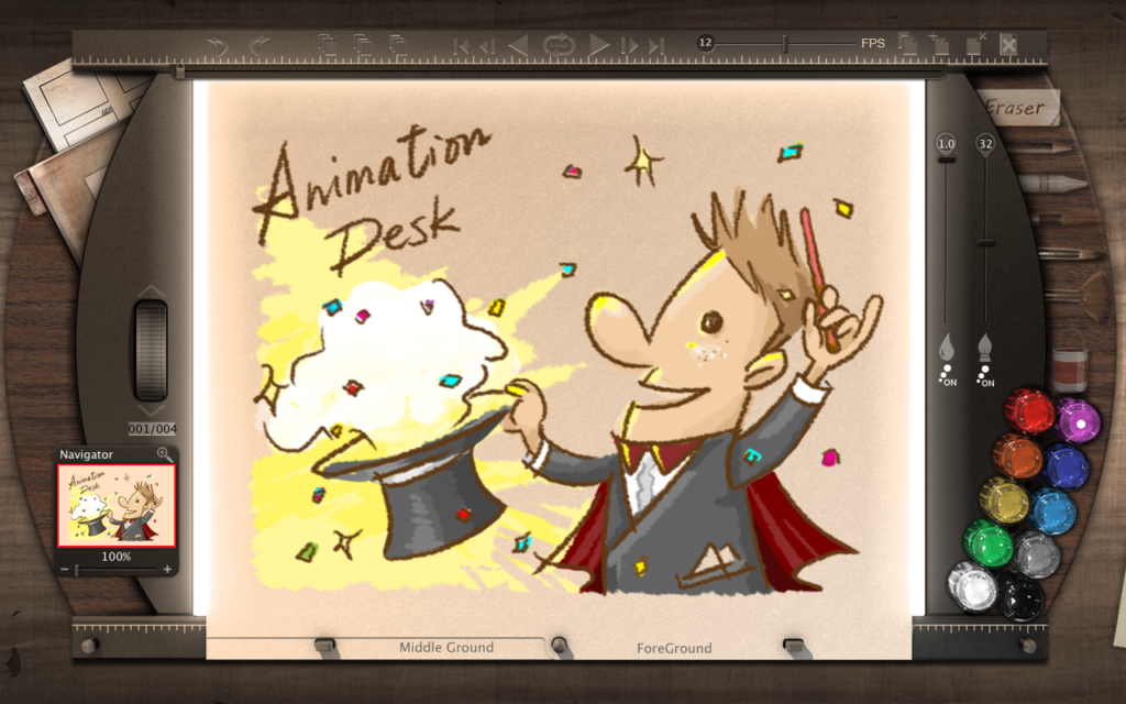 Animation Desk desktop version