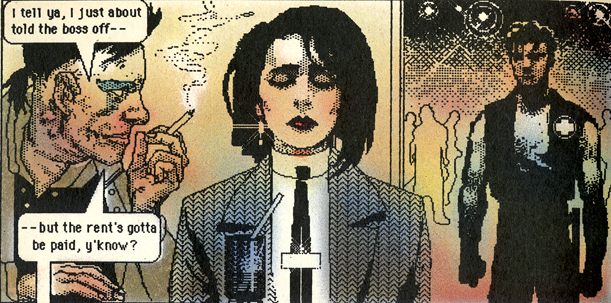 Shatter was the first comic book that was 100% digital.It's a great example of what something made in MacPaint looked like. The low-fi quality looks sexier now than it did almost 30 years ago. Image courtesy of Computer History Museum