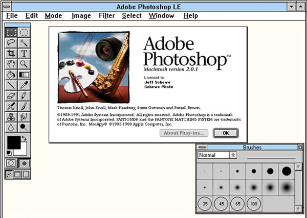 Photoshop circa 1992. Image courtesy of ISPSD.com