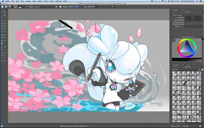 My dream: Krita on Mac (click ot enlarge)