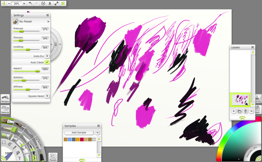 I tried ArtRage with the Ugee stylus. It worked in fits and starts. When it did work, I was in love!