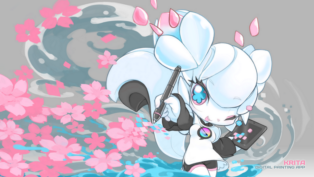 Kiki: the mascot of Krita