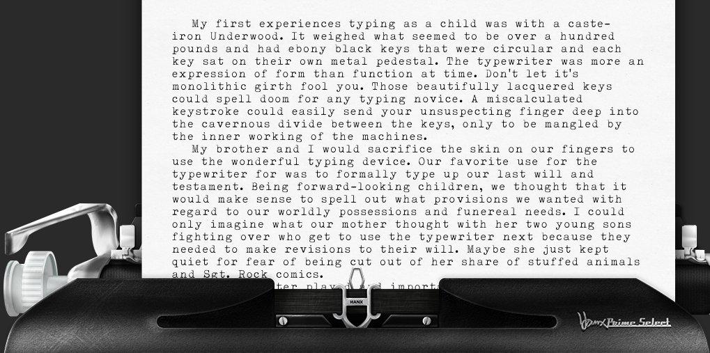 Hanx app reignites manual typewriter romance