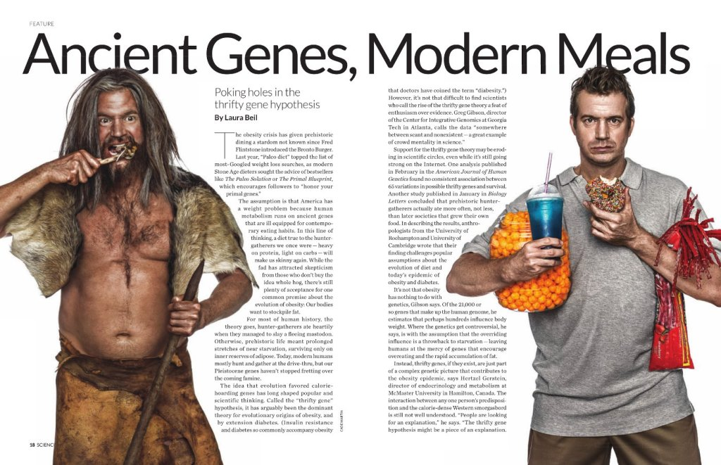 Paleo and modern man together. Click to enlarge image.