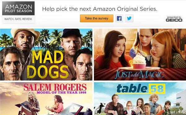 Watch and rate Amazon's Pilot Season.