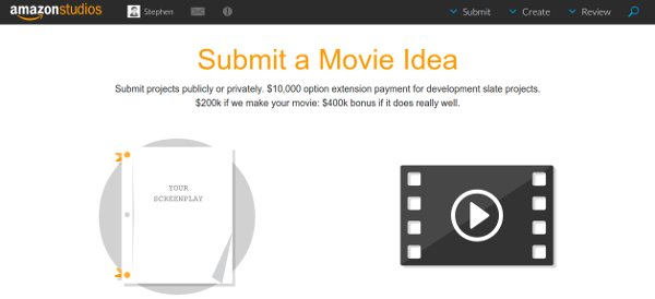 Amazon Studios submit movie idea page