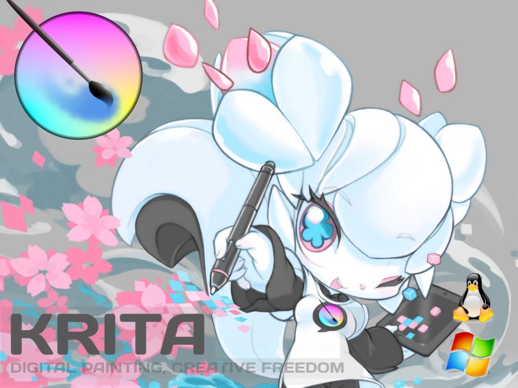 Art for Krita's 2014 Kickstarter campaign (couresty of the Krita Foundation)