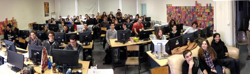 Students at Paris 8 (courtesty of the Krita Foundation)