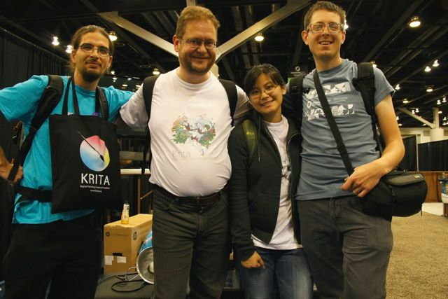 Timothée (far left) with the Krita team at Siggraph