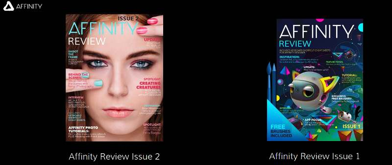 Download Affinity's free e-zines and learn more about their software.