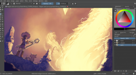 Krita funds 2016 Kickstarter and releases Krita 3.0 this week